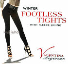 Women Ladies Warm Winter Thermal Tights Fleece Footles Tights With Fleece Lining
