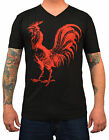 Men's Annex Rooster Cock Cocky Vintage Tattoo Alternative V-Neck T-Shirt Tee