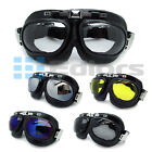 Motorcycle ATV Riding Protective Goggles/Glasses Vintage Pilot Biker 5 ColorLens