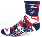 Houston Texans Deuce Quarter Socks Camo New