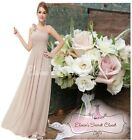 BNWT PIPPA Mink Latte Corsage Chiffon Bridesmaid Dress UK Sizes 6 -18