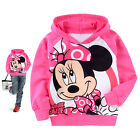 Girls Kids Minnie Mouse Hoodies Costume Top Shirt Outwear Sweatshirt SZ2-7T Coat