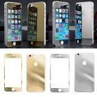 Hot Sell Mirror Effect Color Tempered Glass Screen Protector For iphone 5 5s 6