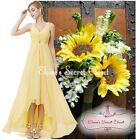 BNWT CERYS Buttercup Yellow Jewel Chiffon Prom Bridesmaid Dress Sizes 6 - 18