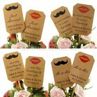 DIY Personalised Double Sided Kraft Wedding Cupcake Toppers Mustache