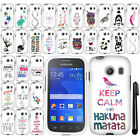 For Samsung Galaxy Ace Style S765C Art Cute Design PATTERN HARD Case Cover + Pen