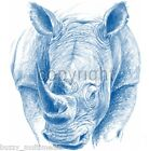 Blue Rhinoceros  - Rhino Shirt,  feng shui protection, Small- 5X
