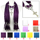 CCB beads alloy cross charms jewelry scarf winter scarf for woman NL-2056
