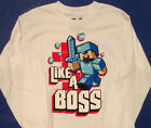 MINECRAFT Like a BOSS T- Shirt  Sizes Boys 6/8 10/12 14/16 18/20