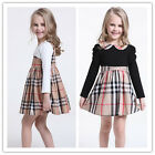 Girl Kids Toddler Top Dress Plaid Ruffle Skirt Check Nova Lattice Outfit Tartan