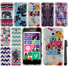 For Nokia Lumia 630 Cricket Aztec Zig Zag PATTERN HARD Case Phone Cover + Pen