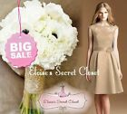 CASSIE Caramel Champagne Lace Bridesmaid Prom Evening Dress Sizes UK 6 -16