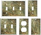 IMAGE OF MARBLE RAINFORREST GREEN   LIGHT SWITCH COVER PLATE OR OUTLETS U PICK
