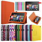 "For 2014 Amazon Kindle Fire HD 7"" Inch Folio PU Leather Case Cover Stand"