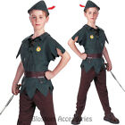 CK313 Peter Pan Disney Pixie Book Week Boys Child Costume Robin Hood Medieval
