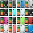For ZTE ZMAX Z970 Slim Hybrid Shockproof Rubber Hard Protective Case Cover