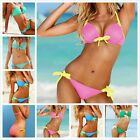 20105 Women's  Halter Triangle Bikini Push-Up Swimsuit Swimwear Beachwear SUIT
