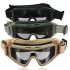 Eye Protection Mask CS Tactical Airsoft Safety Goggles Glasses Eyewear + 3 Lens