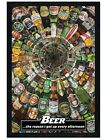 Beers of the World Black Wooden Framed Poster 61x91.5cm