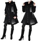 LAGENLOOK WOLLE MANTEL TRENCH COAT 40 42 44 46 PATCHWORK M L XL ÜBERGANG WINTER