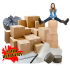 Extra Large Cardboard Box House XL Moving Packing Removal Boxes Kit Single Wall