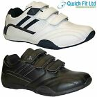 MENS RUNNING TRAINERS CASUAL VELCRO GYM WALKING SPORTS BLACK SHOES BOOTS SIZES