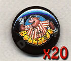 BULLSEYE Bully BADGE Button Pins - SET OF 20 badges  -  25mm size -BARGAIN!