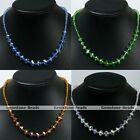 1PC Crystal Glass Faceted Beads Necklace Jewelry Graduated Fashion Gift