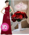 BNWT SUZETTE Cranberry Red Corsage Chiffon Jewel Evening Bridesmaid Dress 8 -18