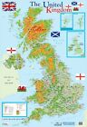 New Map of The United Kingdom Educational Map Mini Poster