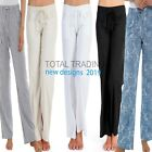 Ladies Womens Linen Casual Trousers Summer Pants Bottoms Holiday  10 to 24  r562