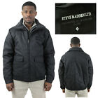 Steve Madden/English Laundry Men's Quilted Sherpa Bomber Jacket Coat