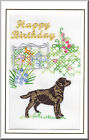 Labrador Birthday Card Embroidered by Dogmania  - FREE PERSONALISATION