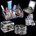 Acrylic Clear Make Up Organiser Cosmetic Jewellery Drawer Storage Case Box Tidy