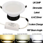 New 5W 9W 15W Dimmable COB LED Ceiling Recessed Fixture Down Light Bulb Lamp