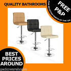 New Americano Bar Breakfast Kitchen Leather Stool Barstools Chrome *