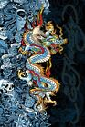 New Blue Dragon Ed Hardy Poster