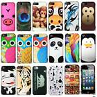 For Apple iPhone 5S 5 Animal Designs Protective Snap On Hard Case Phone Cover