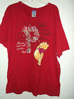 NEW POOH T SHIRT by DISNEY print both side WHATEVER WILL BE WILL BE sz L 20