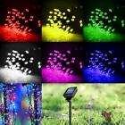 Solar Powered 60/100 LED String Fairy Light Garden Outdoor Xmas Party Waterproof