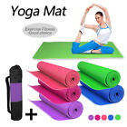 New 6mm Yoga Mat PVC Thick Exercise Fitness Physio Pilates Gym Mats Non Slip