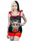 Too Fast Betty Boop Day Of The Dead Sugar Skull Anabel Tie Sleeveless Vest Top £18.69 GBP
