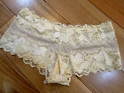 Ladies Lace French Knickers in Baby Yellow