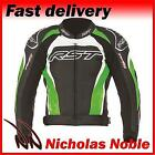 RST Tractech Evo II 1425 Green CE Armoured Leather Sports Jacket