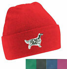 English Setter Beanie Hat Embroidered by Dogmania