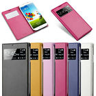 Hot VIEW Window FLIP LEATHER Slim Case Cover For Samsung Galaxy S4 S IV i9500