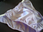 String Side Custom Satin Shiny Bikini Brief S M L or XL Raw Elastic as shown