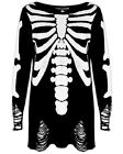 Killstar Ribcage Knit Sweater Top Black Unisex Goth Occult Baggy Grunge Jumper