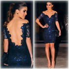 Dress Bodycon Lace Mini Party Evening Sexy Cocktail Women Pencil Clubbing New