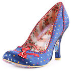 Irregular Choice Scottie Dog Womens Fabric Blue Multi Heels New Shoes All Sizes